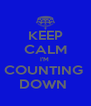 KEEP CALM I'M  COUNTING  DOWN  - Personalised Poster A4 size