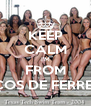 KEEP CALM I'M FROM PAÇOS DE FERREIRA - Personalised Poster A4 size