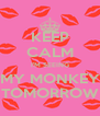 KEEP CALM I'M SEEING MY MONKEY TOMORROW - Personalised Poster A4 size