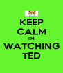 KEEP CALM I'M WATCHING TED - Personalised Poster A4 size
