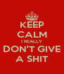 KEEP CALM I REALLY DON'T GIVE A SHIT - Personalised Poster A4 size