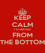KEEP CALM I STARTED FROM THE BOTTOM - Personalised Poster A4 size