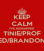 KEEP CALM I'VE KIDNAPPED TINIE/PROF ED/BRANDON - Personalised Poster A4 size