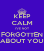 KEEP CALM I'VE NOT FORGOTTEN ABOUT YOU - Personalised Poster A4 size