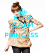 KEEP CALM ICE PRINCESS   - Personalised Poster A4 size