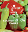 KEEP CALM IF SEGMENTATION FAULT - Personalised Poster A4 size