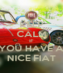 KEEP CALM IF YOU HAVE A NICE FIAT - Personalised Poster A4 size