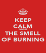 KEEP CALM IGNOR THE SMELL OF BURNING - Personalised Poster A4 size