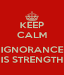 KEEP CALM  IGNORANCE IS STRENGTH - Personalised Poster A4 size