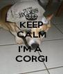 KEEP CALM  I'M A  CORGI - Personalised Poster A4 size