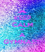 KEEP CALM IM A GYMNAST! - Personalised Poster A4 size