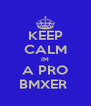 KEEP CALM IM A PRO BMXER  - Personalised Poster A4 size