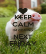 KEEP CALM I'M COMING NEXT FRIDAY - Personalised Poster A4 size