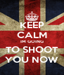 KEEP CALM IM GOING TO SHOOT YOU NOW - Personalised Poster A4 size