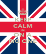 KEEP CALM IM ON A BIG ONE - Personalised Poster A4 size