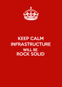 KEEP CALM INFRASTRUCTURE WILL BE ROCK SOLID  - Personalised Poster A4 size