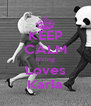 KEEP CALM Irving Loves Karla - Personalised Poster A4 size
