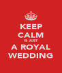 KEEP CALM IS JUST A ROYAL WEDDING - Personalised Poster A4 size