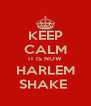 KEEP CALM IT IS NOW HARLEM SHAKE  - Personalised Poster A4 size