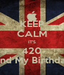 KEEP CALM IT'S 420 And My Birthday - Personalised Poster A4 size