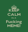 KEEP CALM It's A Fucking MEME! - Personalised Poster A4 size