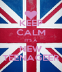 KEEP CALM IT'S A NEW TEENAGEER - Personalised Poster A4 size