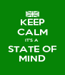 KEEP CALM IT'S A  STATE OF MIND - Personalised Poster A4 size