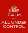 KEEP CALM IT'S ALL UNDER CONTROL - Personalised Poster A4 size