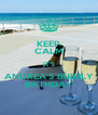 KEEP CALM IT'S ANDREA'S BUBBLY BIRTHDAY - Personalised Poster A4 size