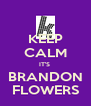 KEEP CALM IT'S  BRANDON FLOWERS - Personalised Poster A4 size