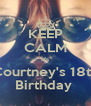 KEEP CALM It's Courtney's 18th Birthday  - Personalised Poster A4 size
