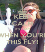 KEEP CALM IT'S EASY WHEN YOU'RE THIS FLY! - Personalised Poster A4 size