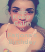 Keep  Calm It's Fatjona's Birthday - Personalised Poster A4 size