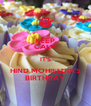KEEP CALM IT'S HIND MOHIELDIN'S BIRTHDAY - Personalised Poster A4 size