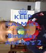 KEEP CALM it's  Hudson's Birthday  And he's 2 - Personalised Poster A4 size