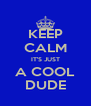 KEEP CALM IT'S JUST A COOL DUDE - Personalised Poster A4 size