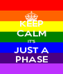 KEEP CALM IT'S JUST A PHASE - Personalised Poster A4 size