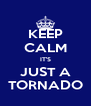 KEEP CALM IT'S JUST A TORNADO - Personalised Poster A4 size