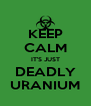 KEEP CALM IT'S JUST DEADLY URANIUM - Personalised Poster A4 size