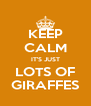 KEEP CALM IT'S JUST LOTS OF GIRAFFES - Personalised Poster A4 size