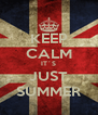KEEP CALM IT´S JUST SUMMER - Personalised Poster A4 size