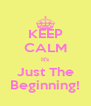 KEEP CALM It's Just The Beginning! - Personalised Poster A4 size