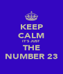 KEEP CALM IT'S JUST THE NUMBER 23 - Personalised Poster A4 size