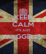KEEP CALM IT'S JUST VAGGELIS  - Personalised Poster A4 size