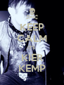 KEEP CALM IT'S  KIER KEMP - Personalised Poster A4 size