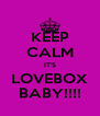 KEEP CALM IT'S LOVEBOX BABY!!!! - Personalised Poster A4 size