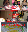 KEEP CALM IT'S  MARCH  MY BIRTHDAY - Personalised Poster A4 size