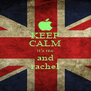 KEEP CALM it's me and rachel - Personalised Poster A4 size