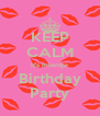 KEEP CALM It's mientje Birthday Party - Personalised Poster A4 size