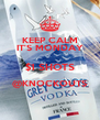 KEEP CALM IT'S MONDAY $1 SHOTS @KNOCKOUTS  - Personalised Poster A4 size